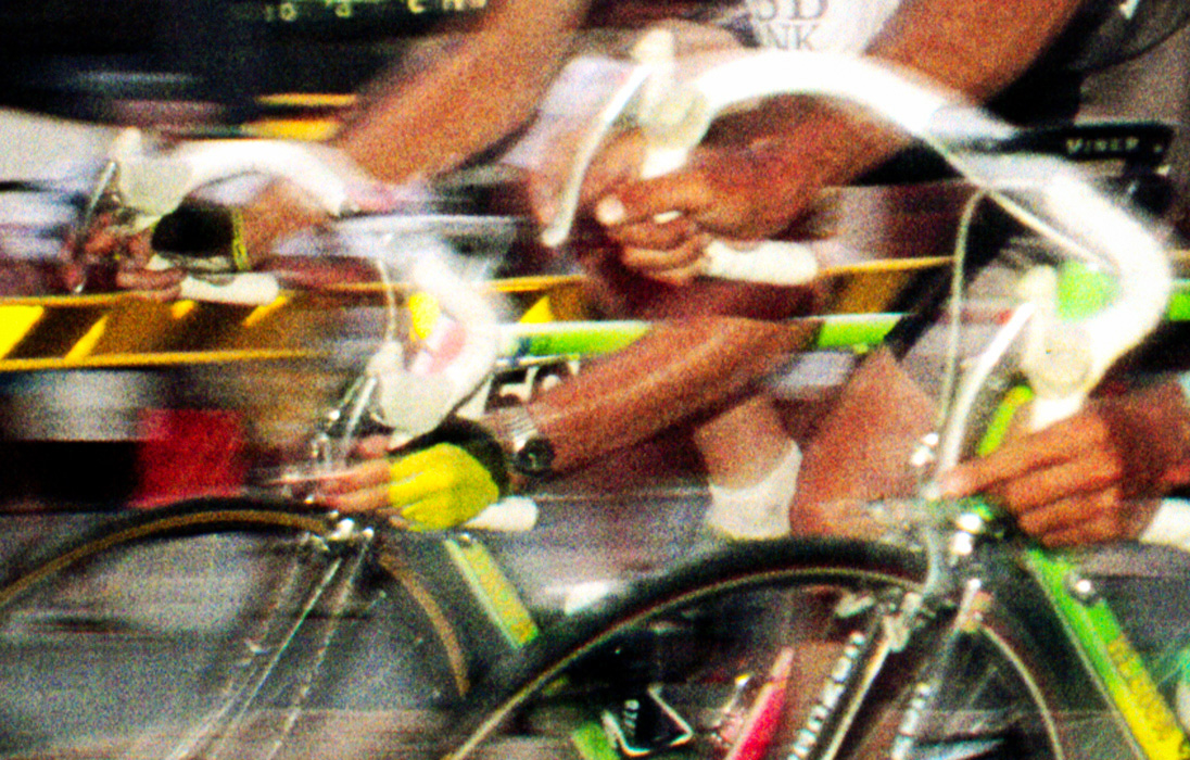 A photo taken up close and personal during the Byron Bay leg of the Commonwealth Cycle Classic in 1989, a time when Eastern Bloc riders dominated the sport.