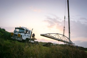 Placing a bridge at the Royal Golf Club, NSW