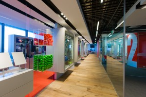 Corporate Express retail showroom. Designed by Custance Associates, Australia