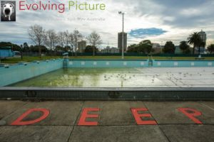 Derelict pool near Sydney Central Station