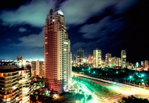 Night view of the Gold Coast, Queensland