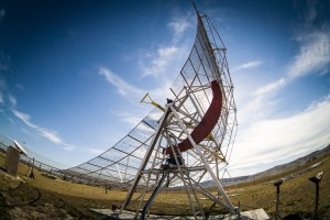Small radio telescope dish at the Sydney University operated site at Bungendore ACT