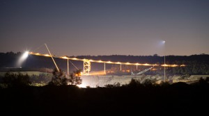 Mine conveyer at Ulan mine at night. Mowlem Power & Mining