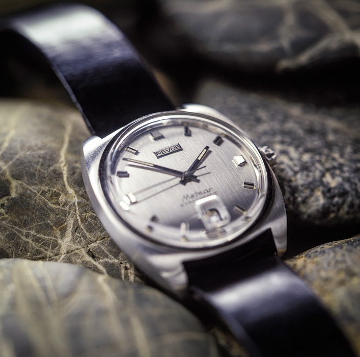 Revue wrist watch. Product photography.