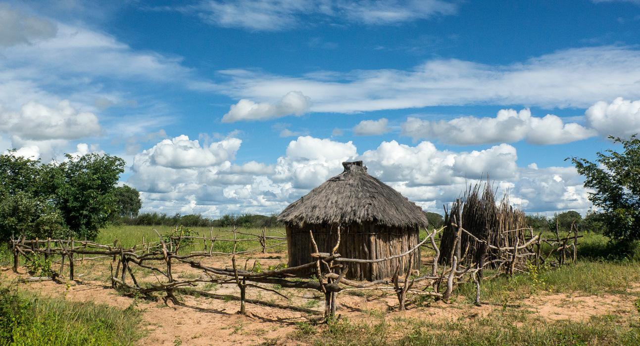 Timber hut and corral - Mupara, Northern Namibia
