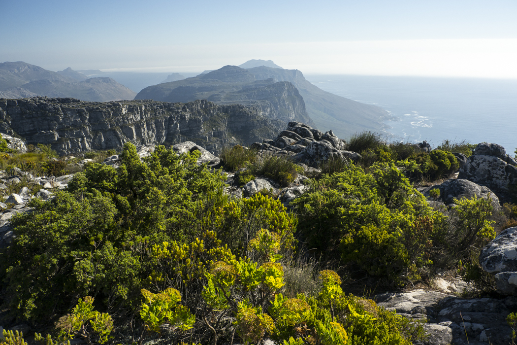 View of the Twelve Apostles from Table Mountain, Cape Town, South Africa.